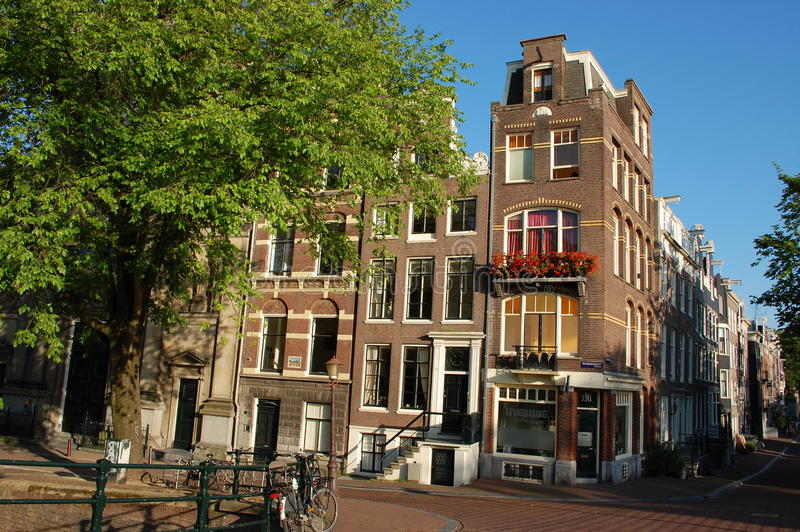 Houses in Holland stock photo