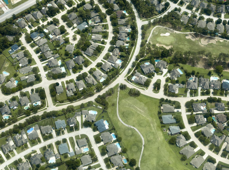 Download Houses, Homes, Neighborhood, Aerial View Stock Photo - Image: 30772492