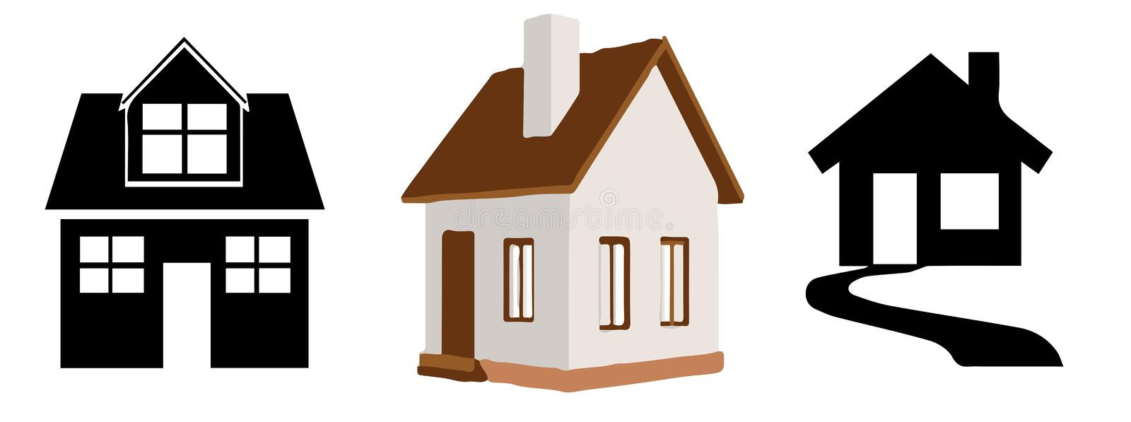 Houses icon on white background. Building,design vector illustration