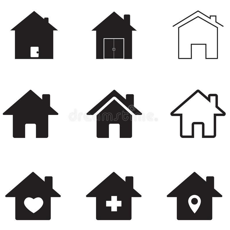 Houses icon on white background. flat style. homes icon for your web site design, logo, app, UI. real estate symbol. house sign vector illustration