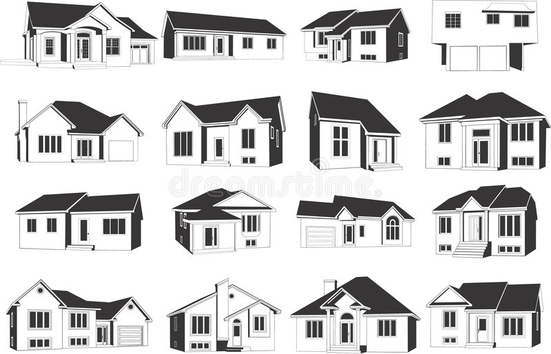 Houses icons vector illustration