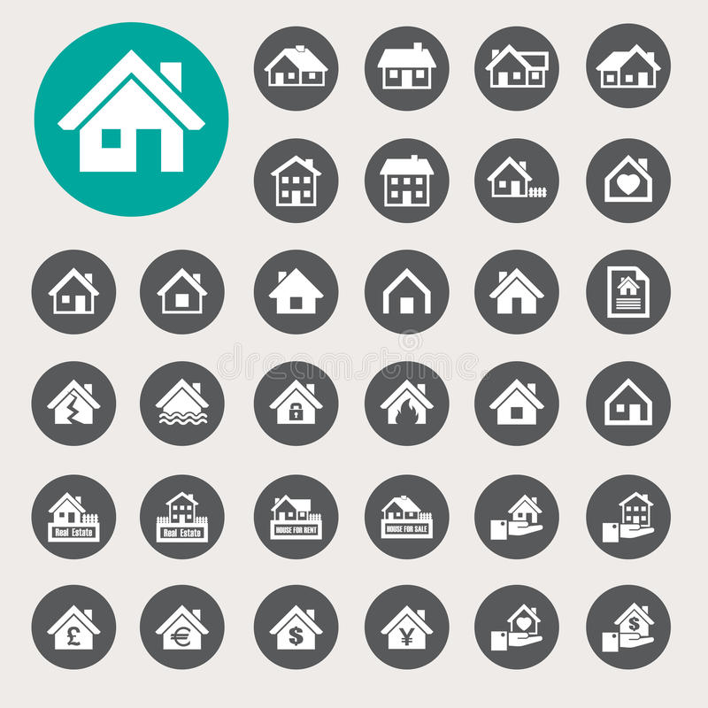 Download Houses Icons Set. Real Estate. Stock Vector - Image: 35306223
