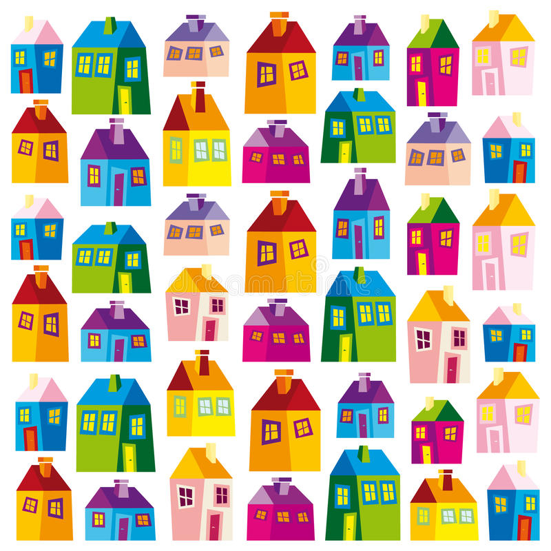 Free Houses, Illustration, Wallpaper, Background, Naive Stock Photo - 20108340