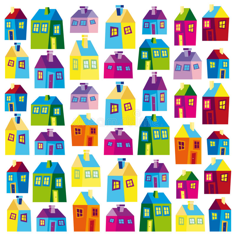 Free Houses, Illustration, Wallpaper, Background, Naive Stock Images - 20108344
