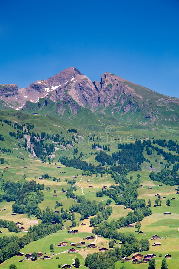 Free Houses In The Mountains, Switzerland Stock Images - 5806024