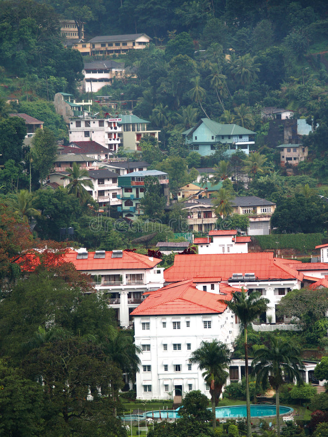 Download Houses in Kandy, Sri Lanka stock photo. Image of mountain - 8643230