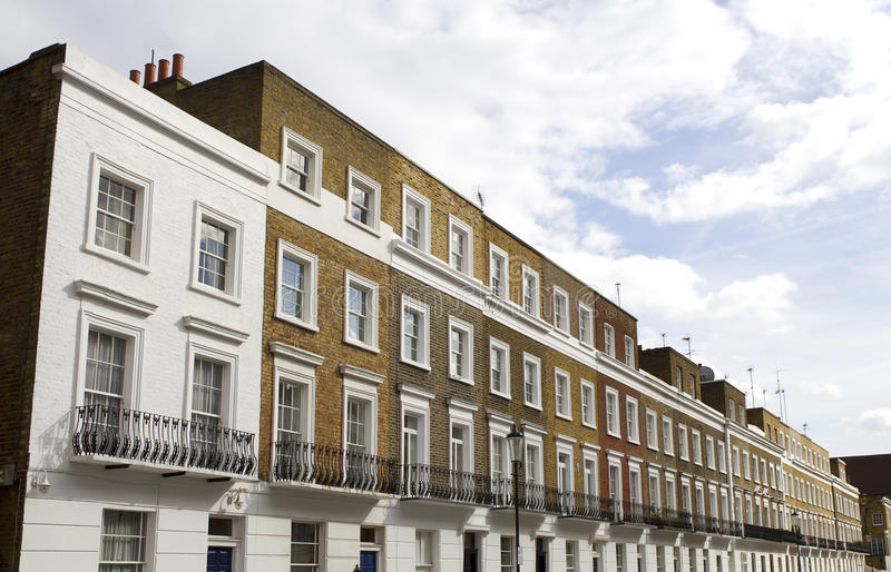 houses knightsbridge london royaltyfri bild