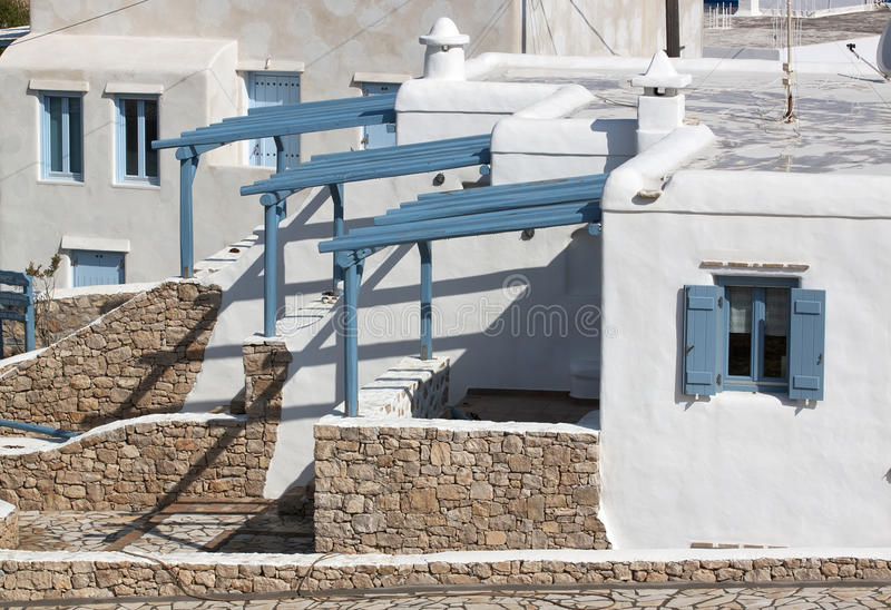 Houses in Koufonisia island royalty free stock image