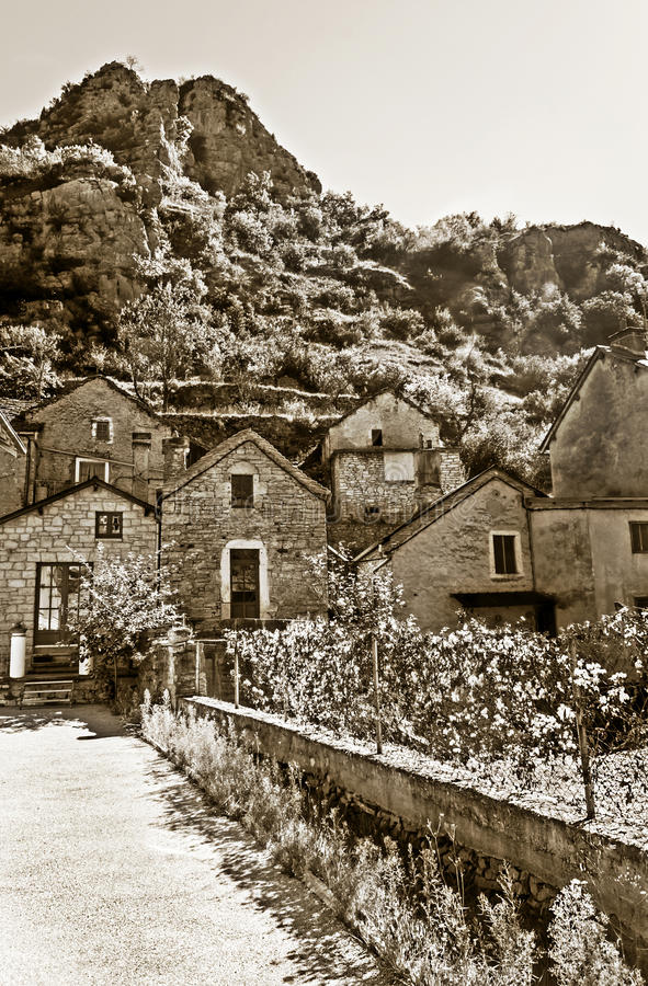 Houses in La Madele stock photo