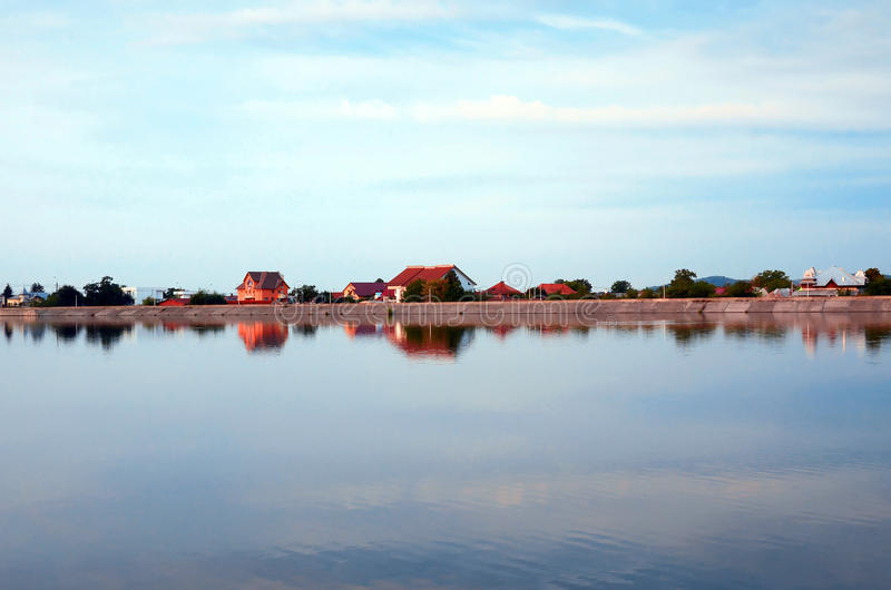 Download Houses On A Lakeshore Stock Photos - Image: 28218503