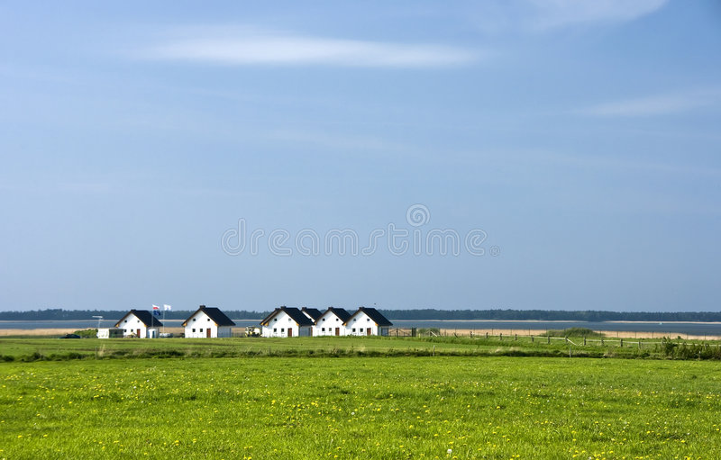 Houses On Lakeside Royalty Free Stock Image