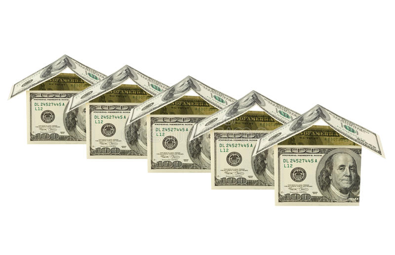 Houses made of money stock images