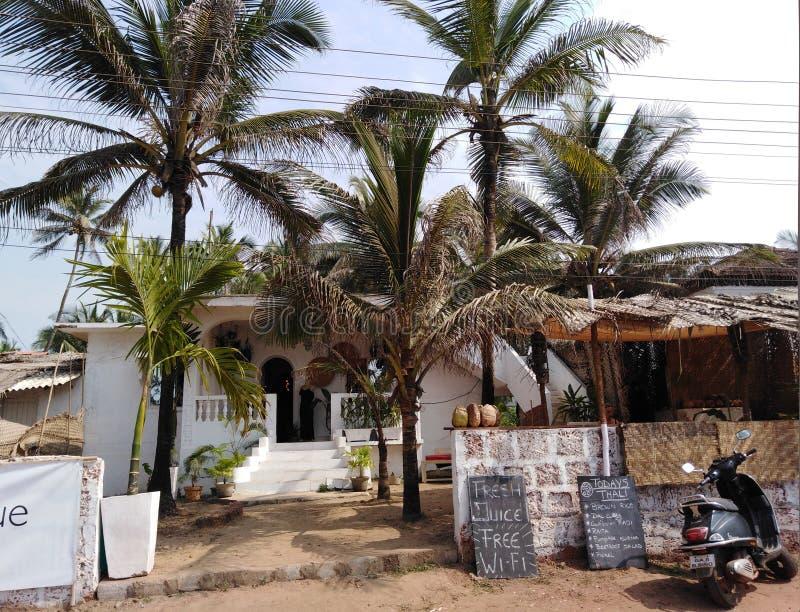 Mandrem-Ashvem, Goa, India. Houses in Mandrem-Ashvem area, Pernem road, Goa, India stock image
