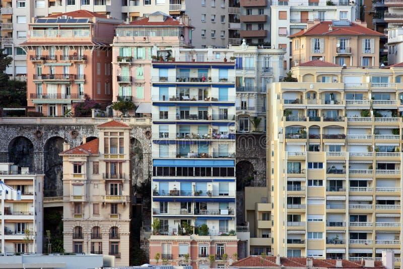 houses monaco royaltyfria foton