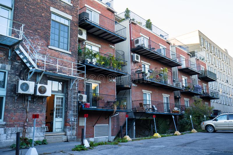 Houses in Montreal stock photos