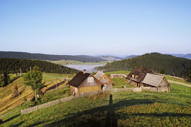Download Houses on mountain stock image. Image of fence, europe - 21038385