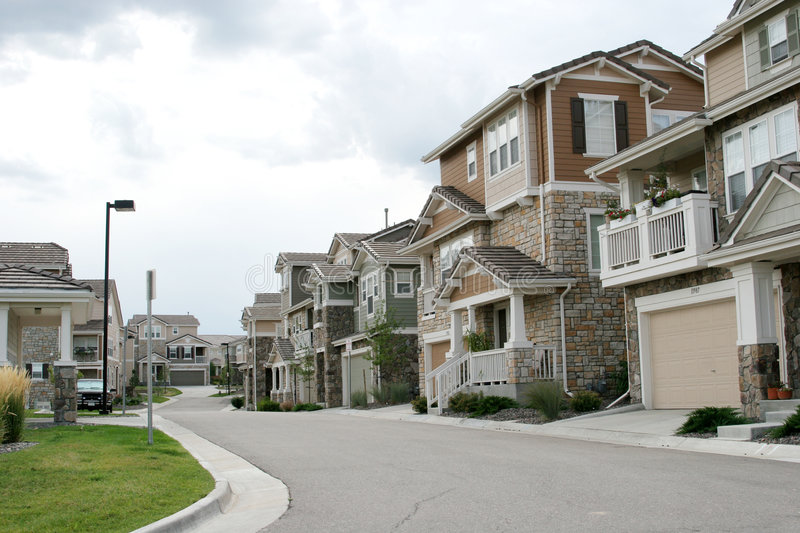 Download Houses in the neighborhood stock image. Image of residential - 1590141