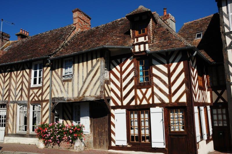 houses normandy royaltyfria foton