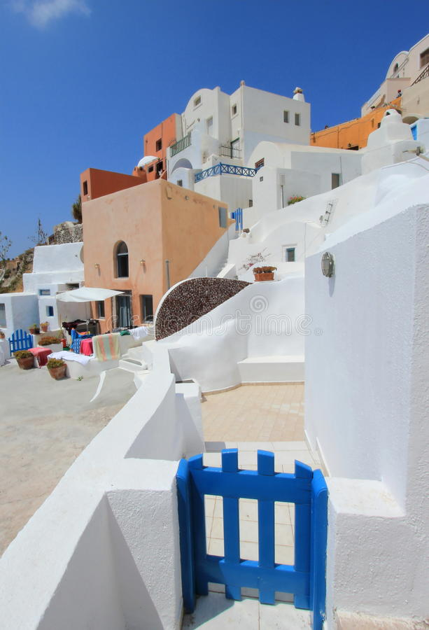 Houses in Oia, Santorini, Greece royalty free stock photo