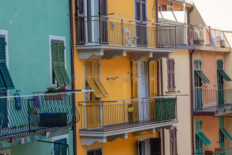 Houses in old village royalty free stock photography