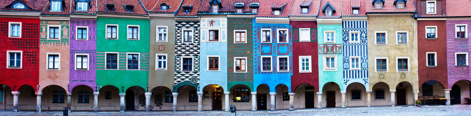 Houses of old Poznan, Poland royalty free stock photo
