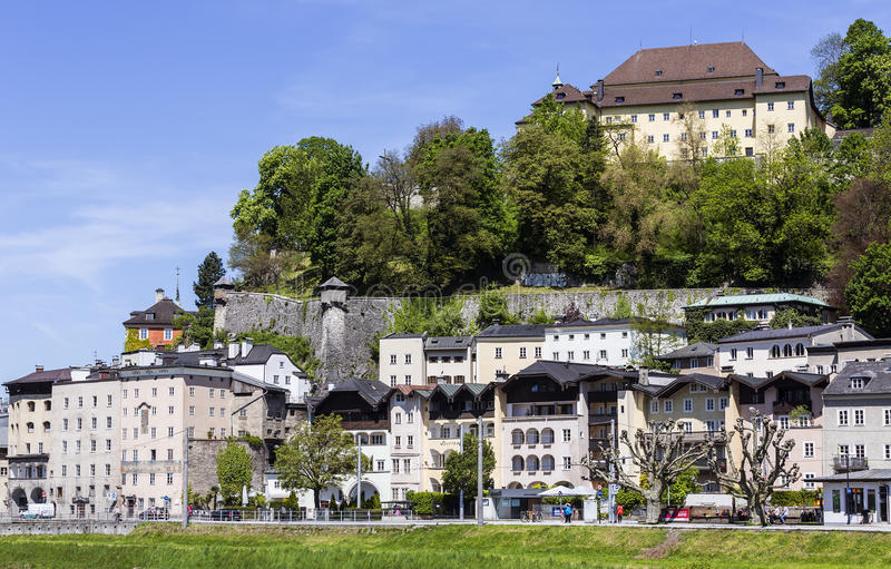 Houses in Old Town of Salzburg royalty free stock photos