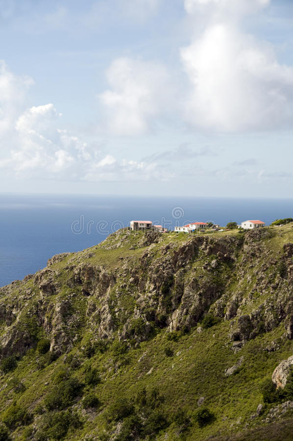 Free Houses On Cliff Saba Dutch Netherlands Antilles Royalty Free Stock Photos - 22350968