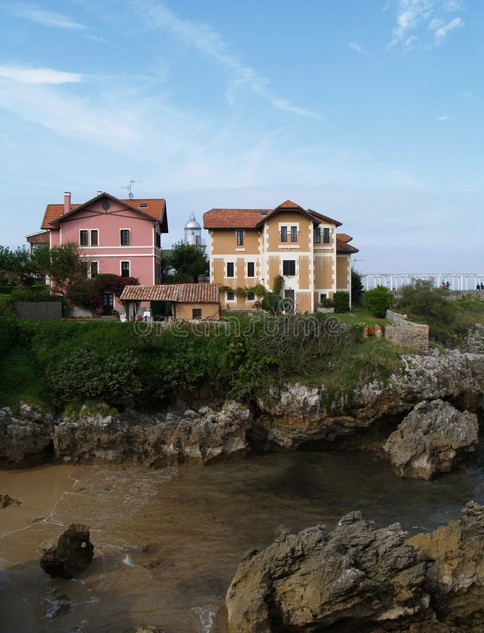 Free Houses On The Cliff Royalty Free Stock Photography - 4540487