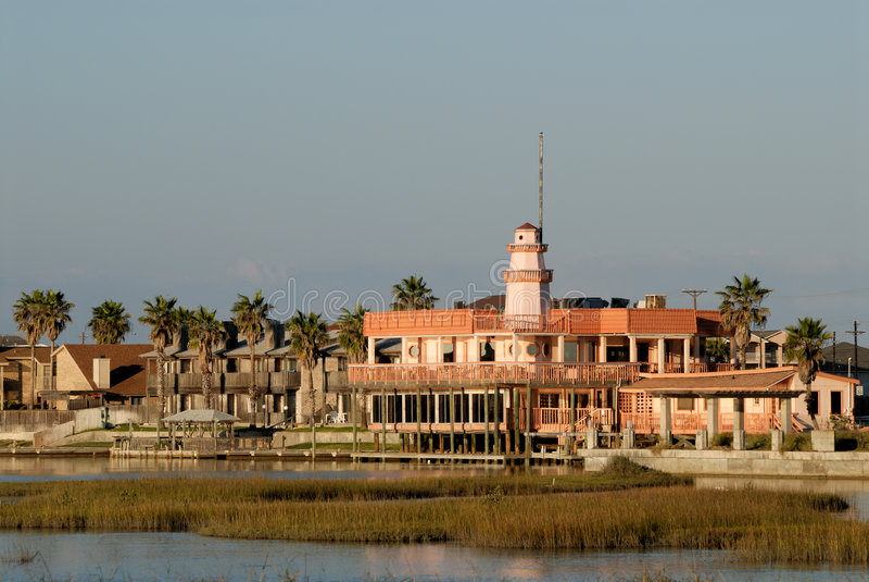 Houses On Padre Island, USA Royalty Free Stock Photos