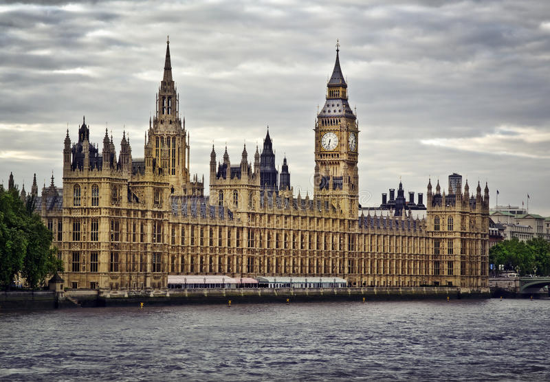 Houses of Parliament. And Big Ben, London stock photo