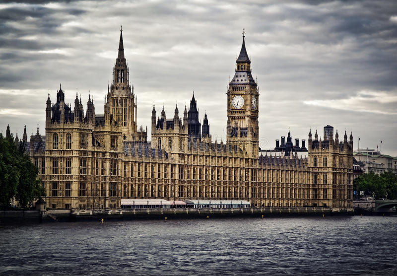 Houses of Parliament. And Big Ben, London stock images