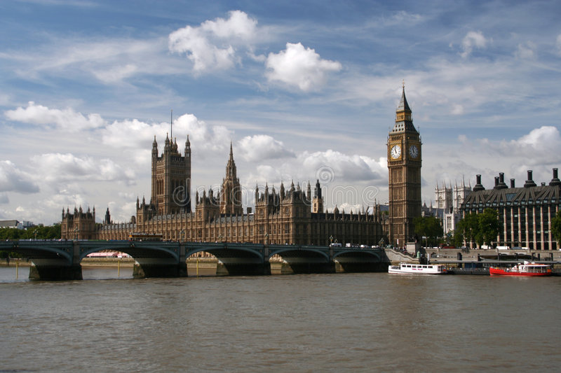 Houses Of Parliament & Big Ben Royalty Free Stock Images