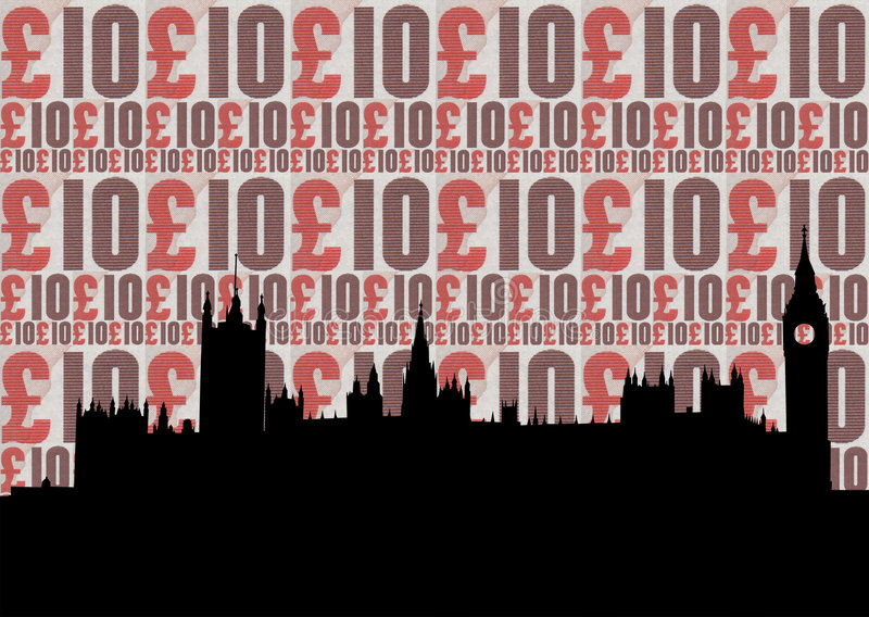 Houses of parliament illustration royalty free illustration