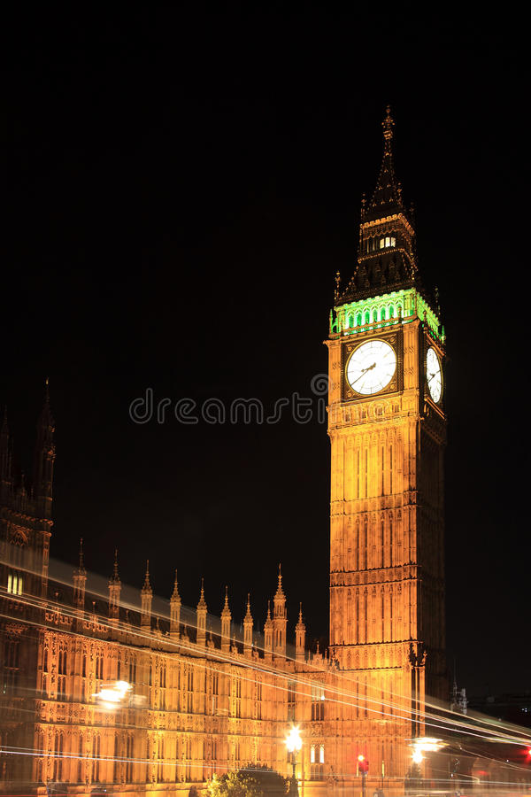 Houses Of Parliament At Night Stock Image