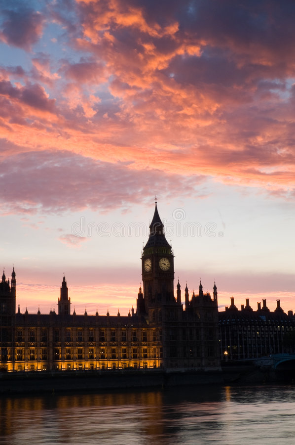 Download Houses Of Parliament At Sunset, P Stock Image - Image: 7608511