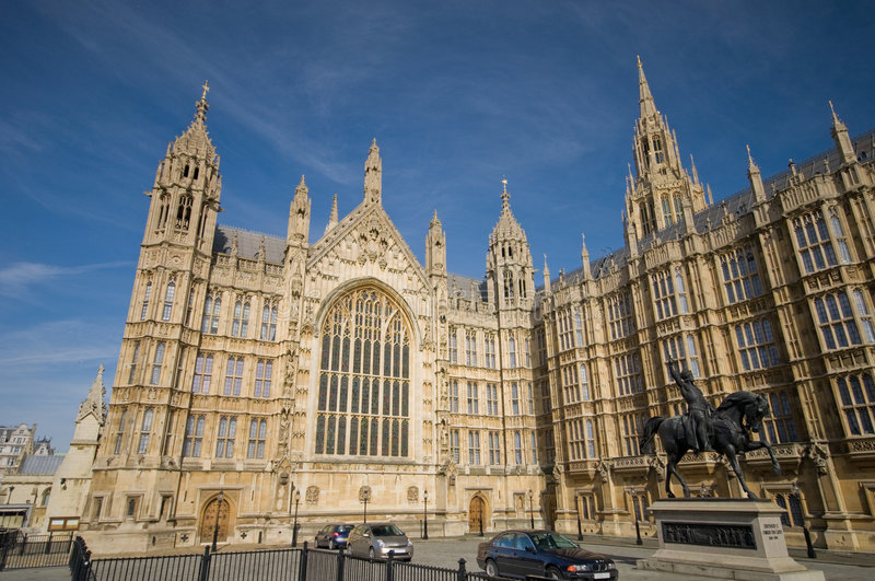 Houses of parliament (westminister palace) stock photography