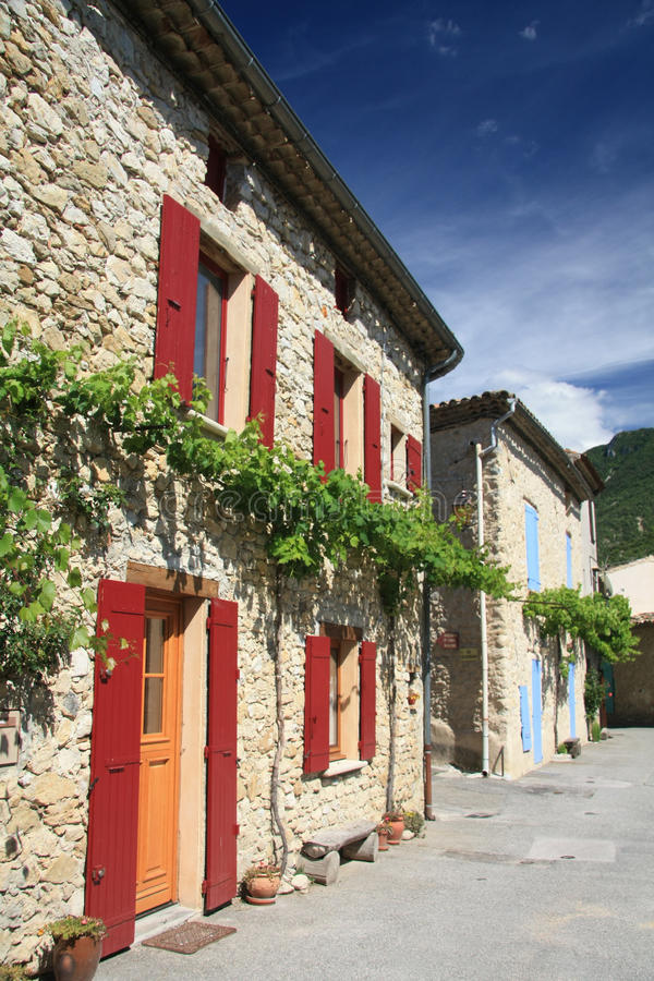 Download Houses in Provence, France stock photo. Image of street - 24829920