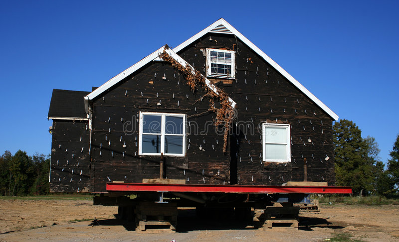 Houses Ready to be Moved royalty free stock images