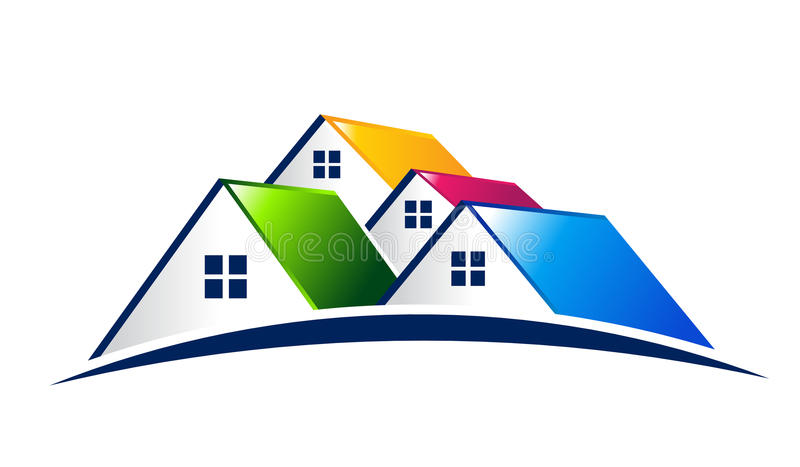 Houses. Real Estate Logo. Group of Houses. Real Estate Design