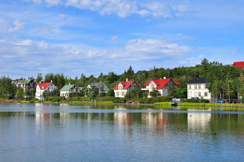 Houses in Reykjavik stock image