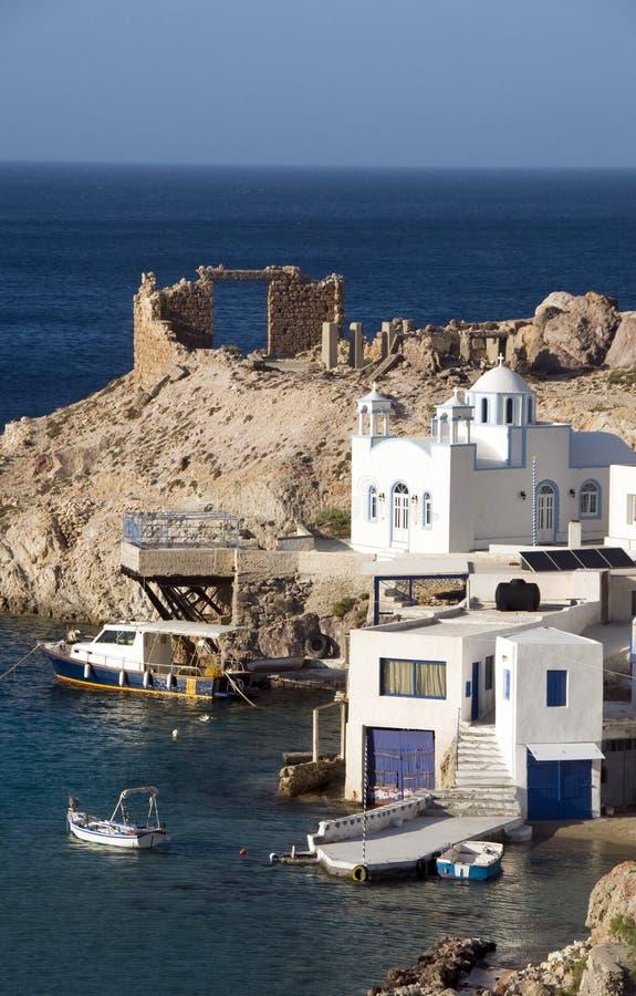 Download Houses Rock Cliffs  Firopotamos Milos Stock Photo - Image of aegean, travel: 25482646