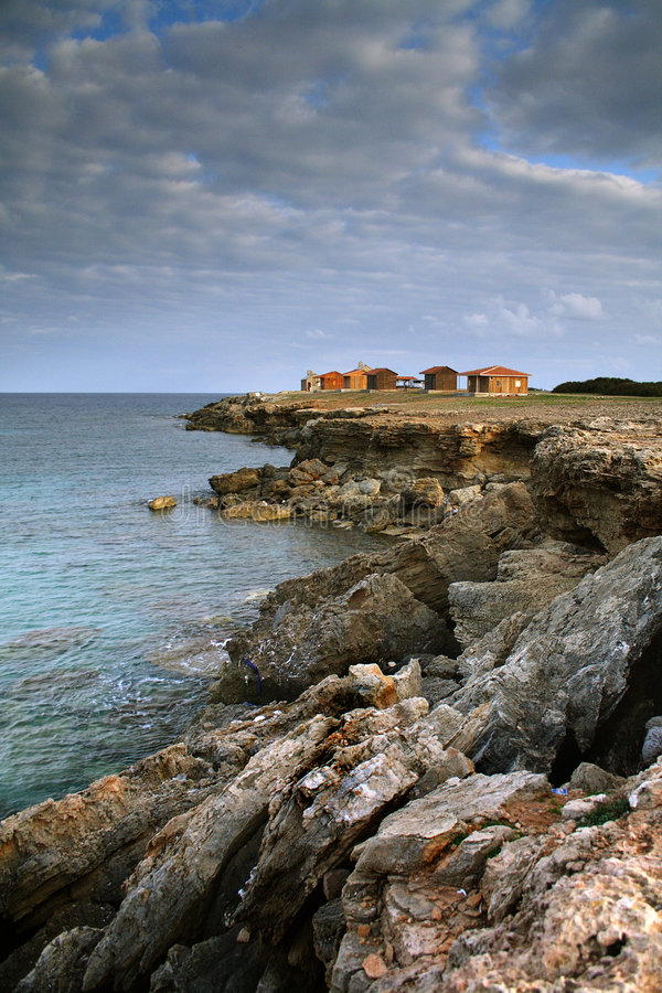 Houses on the Rocks royalty free stock image