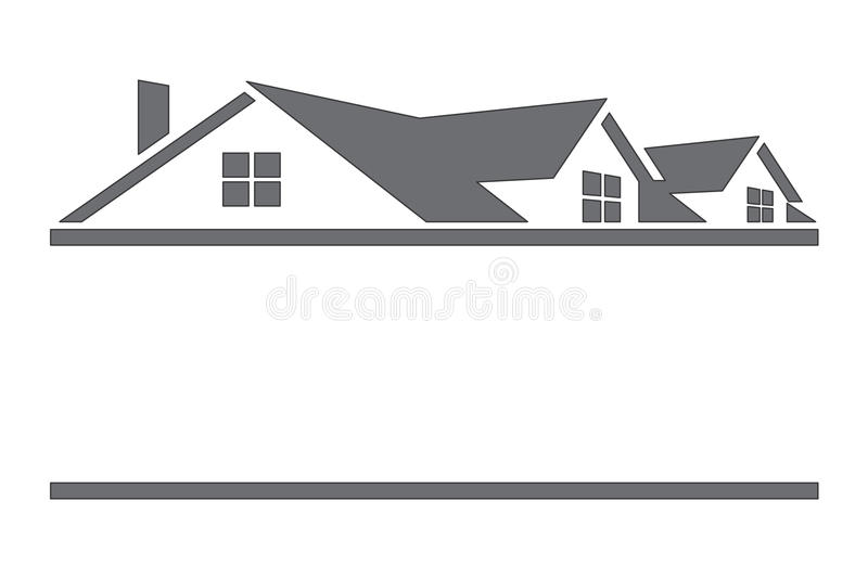 Houses and Roofs. Real state logo in vector