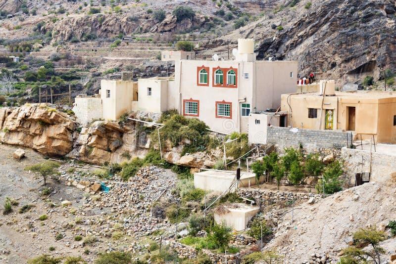 Houses Saiq Plateau royalty free stock photography