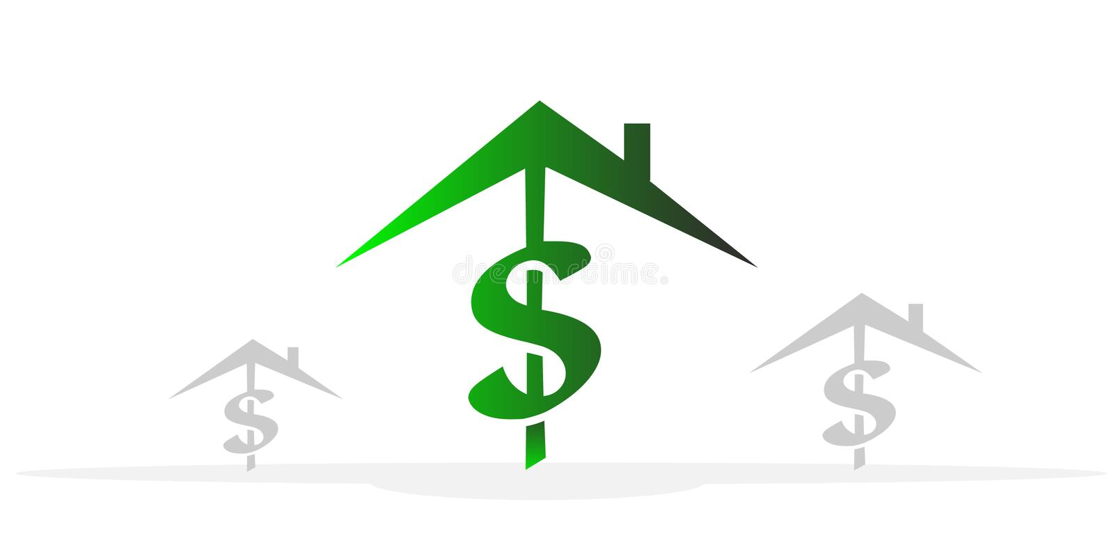 Download Houses for sale stock vector. Illustration of house, currency - 25777275