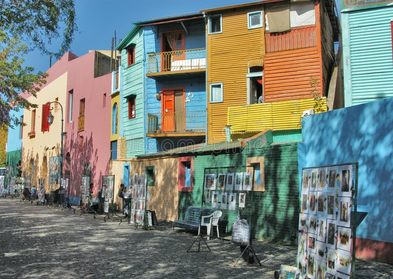 Houses in San Telmo royalty free stock images