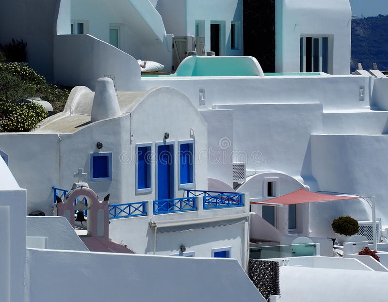 Houses On Santorini Greece stock images