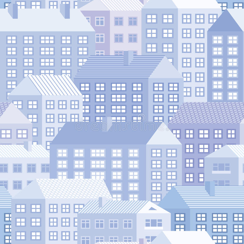 Download Houses - seamless pattern stock vector. Image of houses - 24753713