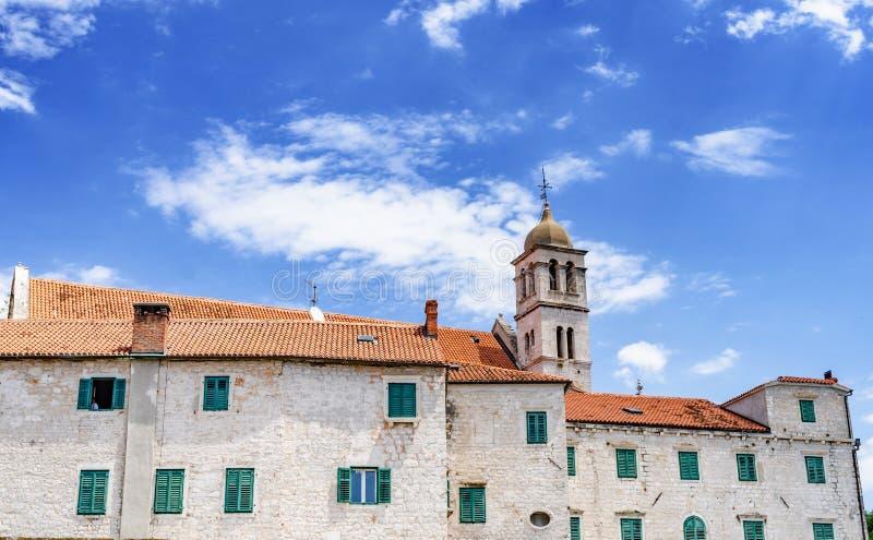 Houses of Sibenik. Popular tourist destination in Croatia stock photography