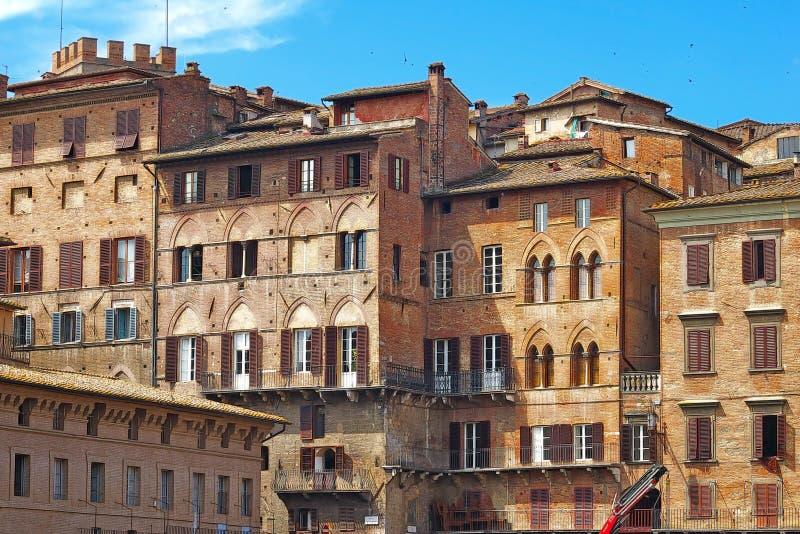 Houses of Siena, Italy royalty free stock photos